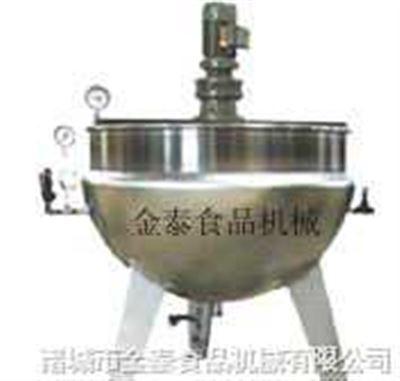 500L全钢电加热固定式带搅拌夹层锅(豆浆厂)