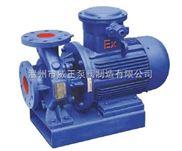管道油泵选型:ISWB卧式单级单吸防爆管道油泵