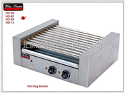 唯利安 HD-05 五棍滚筒式烤香肠机 烤热狗机 烤火腿肠机