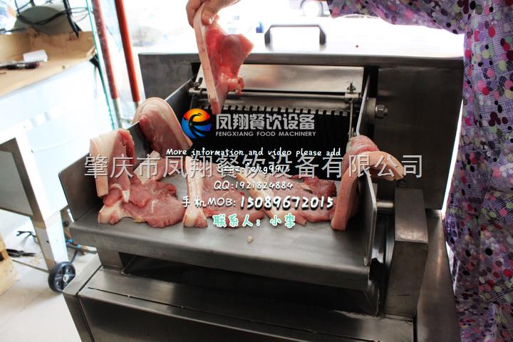 肇庆凤翔---切腊肉条机,制腊肉机,切肉条机,五花肉切条机 腊肠制作机器