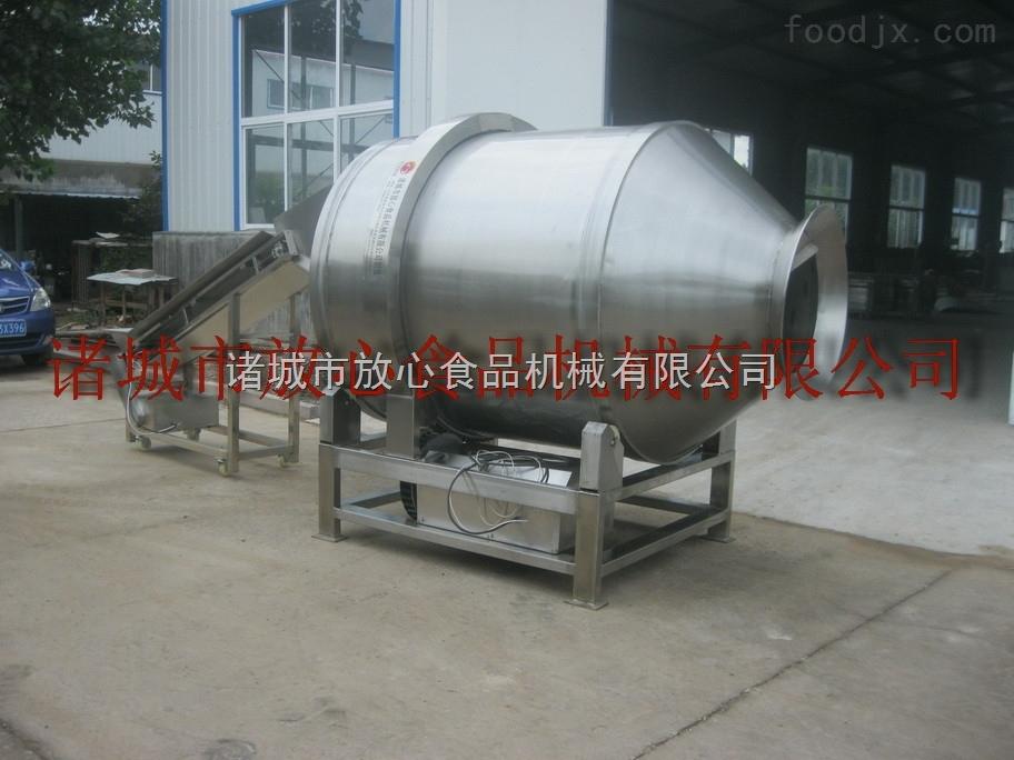 麻辣花生拌料机,豆腐干滚筒拌料机,千叶豆腐丝拌料机