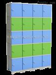 36门储物柜厂家直销ABS塑胶防水储物柜-16门新款加层板储物柜