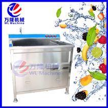 气泡式海鲜去杂清洗机 洗鱼机 海鲜加工设备