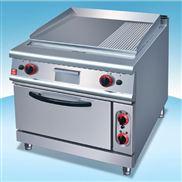 美的商用电热扒炉连焗炉/连下柜/小炒灶连下柜/六头红外保温炉
