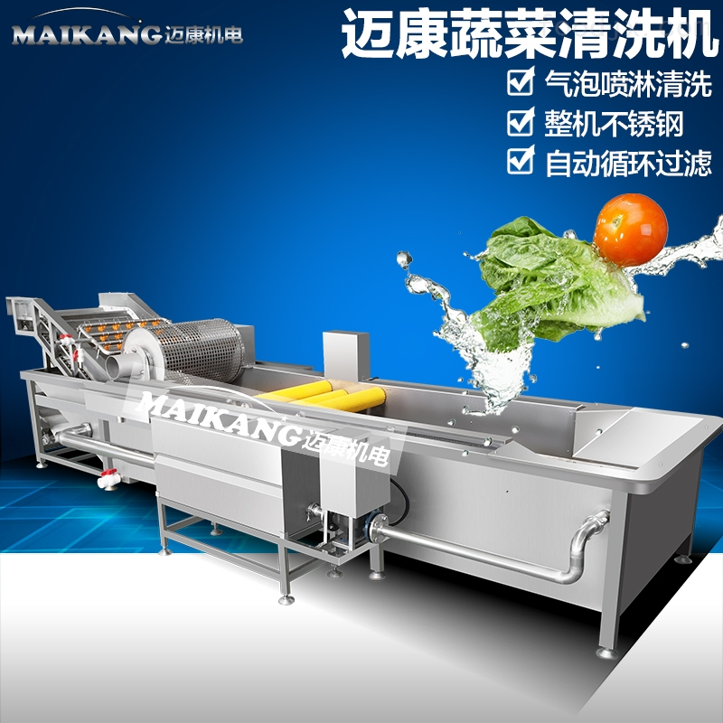 油菜上海青清洗机 中央厨房净菜加工气泡洗菜机蔬菜清洗机