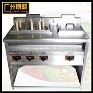 GH-1076立式喷流式煮面机 六头燃气煮面炉 麻辣烫炉煮面机连汤池