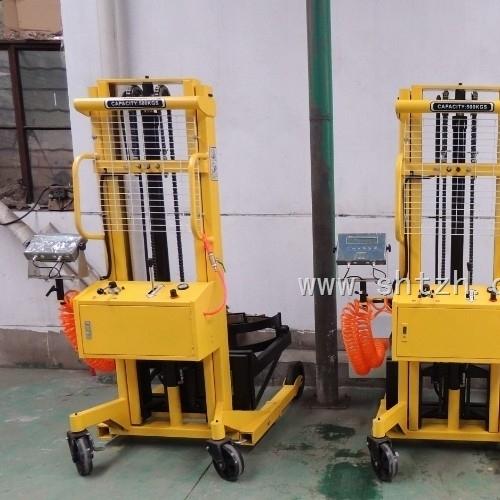 上海电子地磅手推油桶车秤