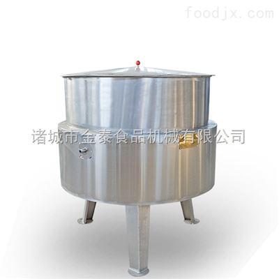 500L宾果不锈钢立式蒸汽带保温层夹层锅