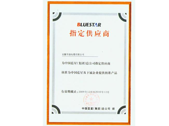 中国蓝星(集团)总企业指定供应商