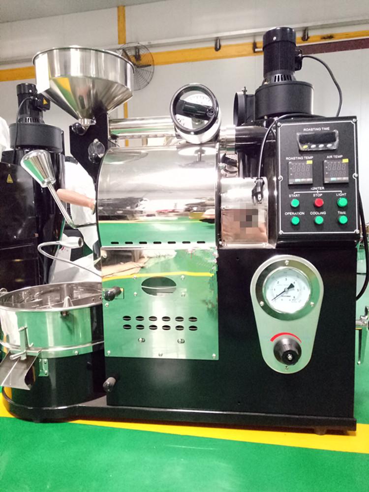 一,产品特点 1,半直火半热风式烘焙机采用热辐射与热风的配合,咖啡豆